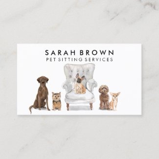 Pet Sitter Walker dog veterinary Business Card