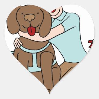 Pet Sitter Woman Heart Sticker