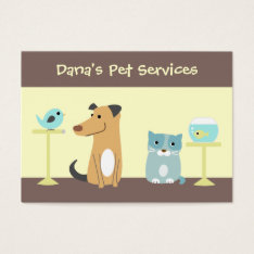 Pet Sitter's Business Card at Zazzle