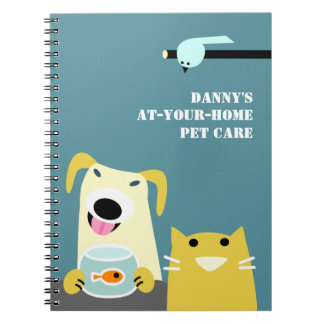 Pet Sitter's Business Spiral Note Books