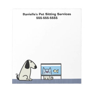 Pet Sitter's Business Note Pad