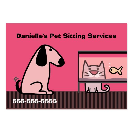 Pet Sitter's Business Red Business Card Template