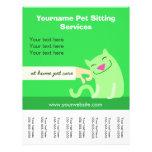 Pet Sitter's Cat Flyer-green Flyer