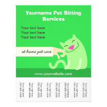 Pet Sitter's Cat Flyer-green Flyer