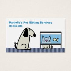 Pet Sitter's Dog Cat & Aquarium Business Card at Zazzle
