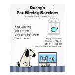 Pet Sitter's Dog Cat & Aquarium Flyer