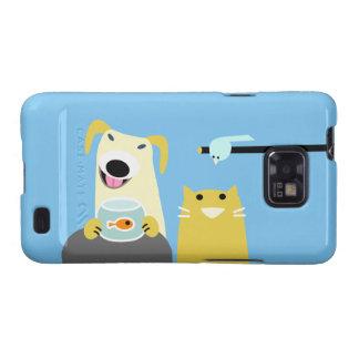 Pet Sitters Dog Cat Bird & Fish Samsung Galaxy S2 Cover