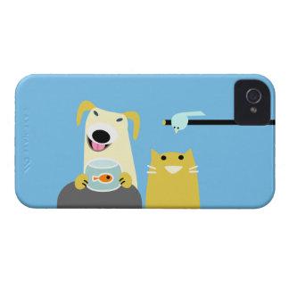 Pet Sitters Dog Cat Bird & Fish iPhone 4 Cover