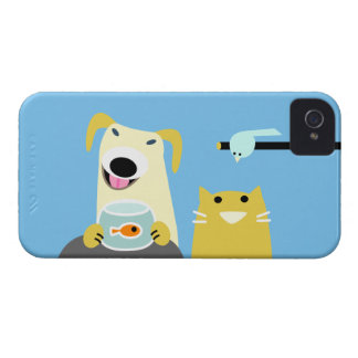 Pet Sitters Dog Cat Bird & Fish Case-Mate iPhone 4 Case
