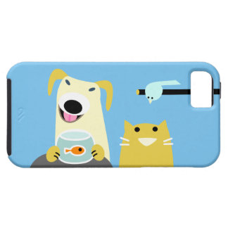 Pet Sitters Dog Cat Bird & Fish iPhone SE/5/5s Case