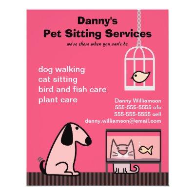 pet sitting flyers