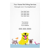 Pet Sitters Flyer-blue Flyer