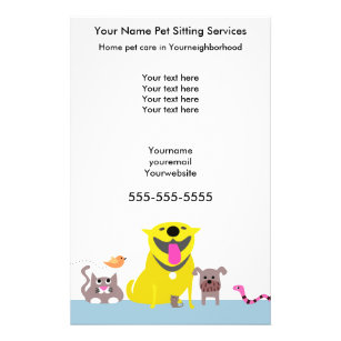 Pet Sitters Flyer Blue