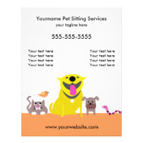 Pet Sitter's Flyer-dog, cat, bird, snake Flyer