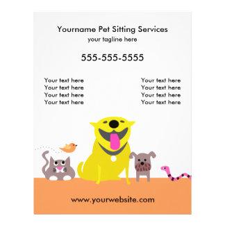 Pet Sitter's Flyer-dog, cat, bird, snake Flyer