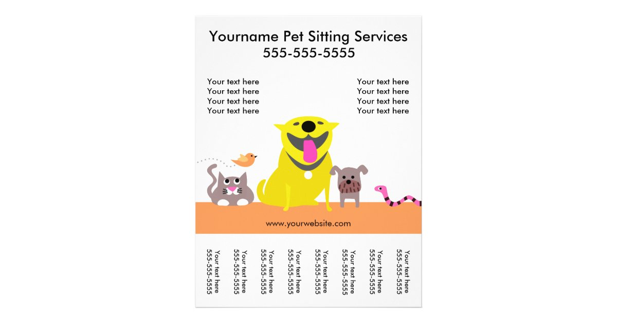 pet sitter u0026 39 s flyer with tags