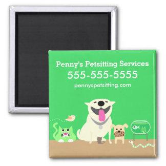 Pet Sitter's Green magnet