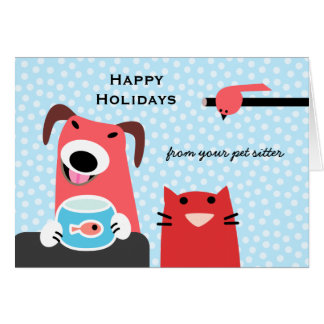 Pet Sitter's Holiday Greeting Card