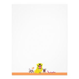 Pet Sitter's letterhead-orange Letterhead