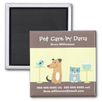 Pet Sitter's Promotional Magnet