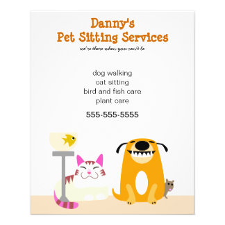 Pet Sitter's Promotional Personalized Flyer