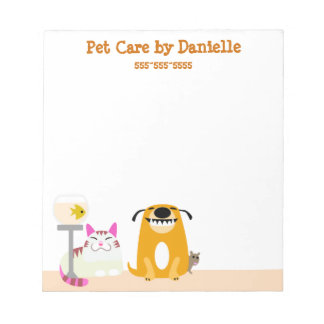 Pet Sitter's Services Note Pad