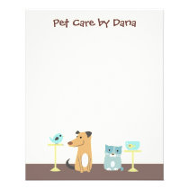 Pet Sitter's Small Note Paper