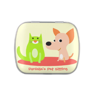 Pet Sitting Business Jelly Belly Tin