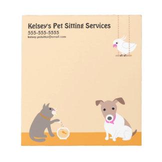 Pet Sitting Business Memo Notepads
