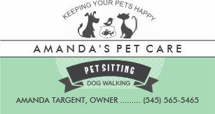 Pet business cards templates zazzle pet sitting care green white retro design business card colourmoves