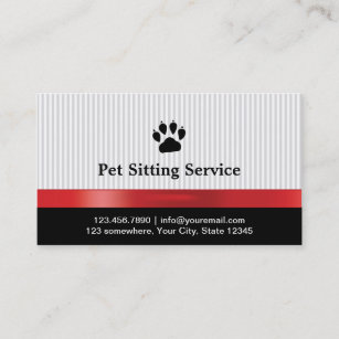 pet sitting business cards zazzle