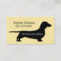 Pet Sitting Dog Walker Business Card