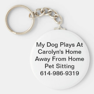 Pet Sitting Key Chain