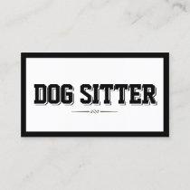 Pet Sitting Modern Bold Border Plain Business Card