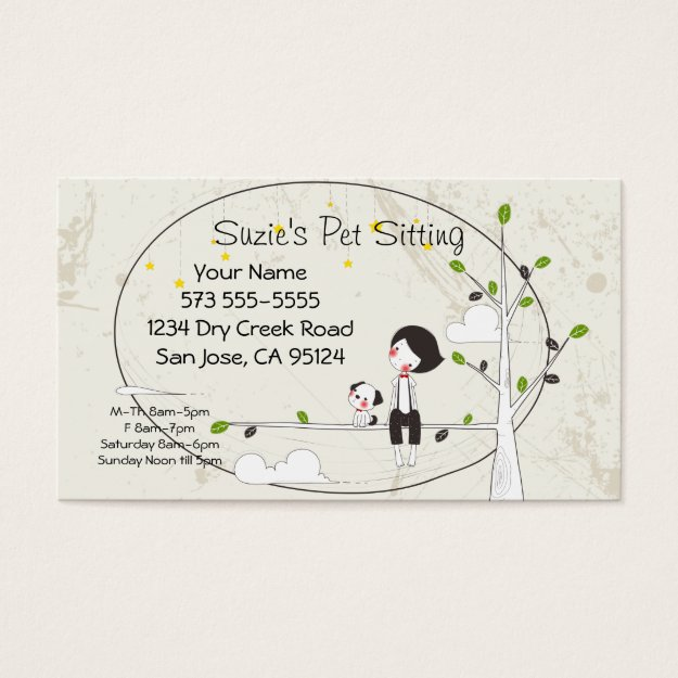 dog sitting business trendy business cards make your first