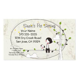 Pet Sitting Service Business Card