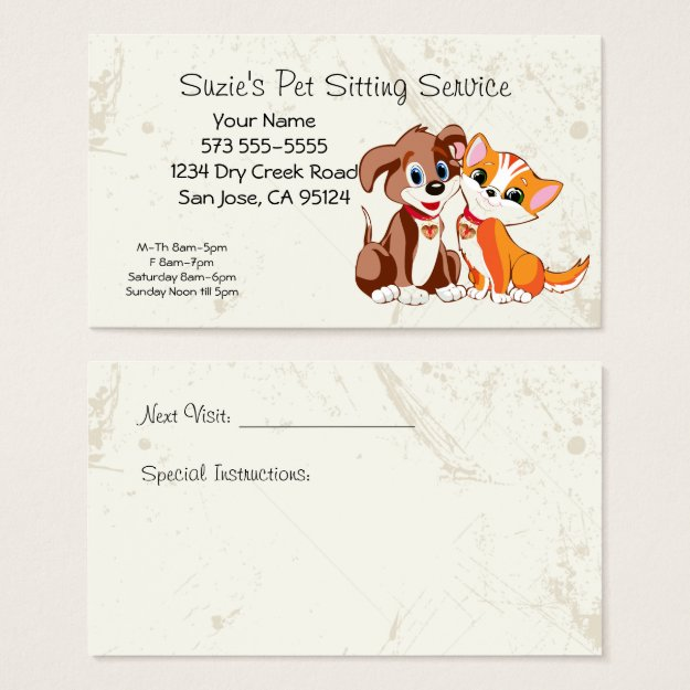 Business cards for pet sitters trendy business cards make your pet sitting service business card colourmoves