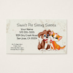 Pet Sitting Service Business Card at Zazzle