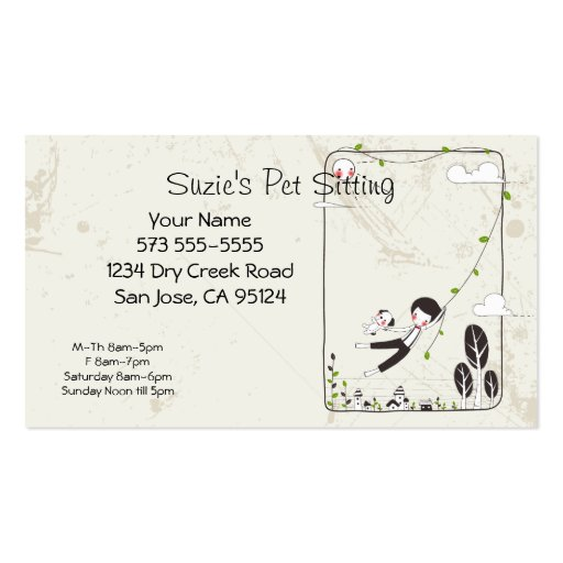 3 000 Pet Sitting Business Cards and Pet Sitting Business
