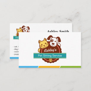 pet sitting business cards zazzle