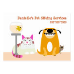 Pet Sitting Services Large Business Cards (Pack Of 100)