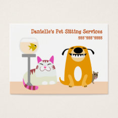 Pet Sitting Services Business Card at Zazzle