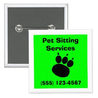 Pet Sitting Services Paw Print Button