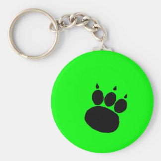 Pet Sitting Services Paw Print Keychain