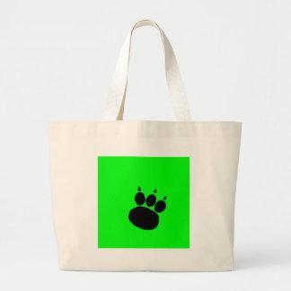Pet Sitting Services Paw Print Large Tote Bag