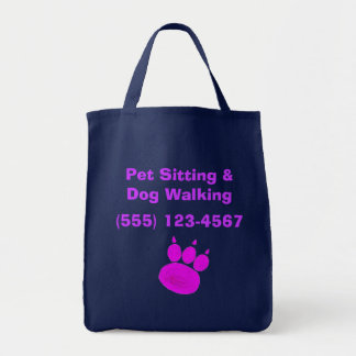 Pet Sitting Services Paw Print Tote Bag