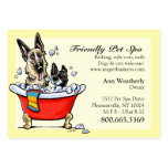Pet Spa Grooming Boutique Happy Fancy Large Business Cards (Pack Of 100)