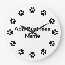 Pet Store Dog PAWS WALL CLOCK