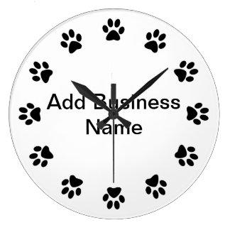 Pet Store Dog PAWS WALL CLOCK