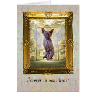 Pet Sympathy card. Forever in your heart. Card